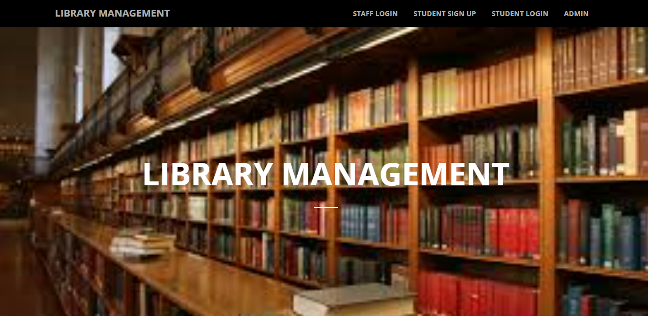 Library Management System College Project Topic For Final Year Students